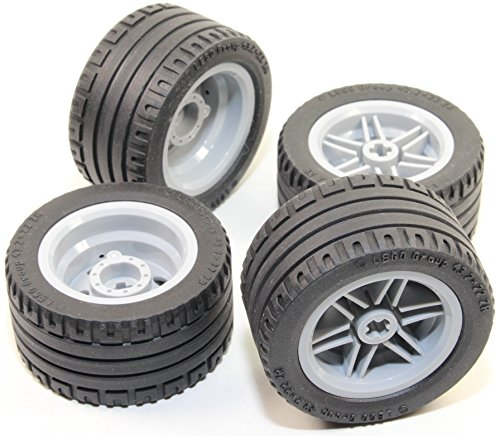 LEGO 8pc Technic Wheel and Tire SET (Mindstorms nxt ev3 tyre) 56145 44309 (Lego Robotics Nxt compare prices)
