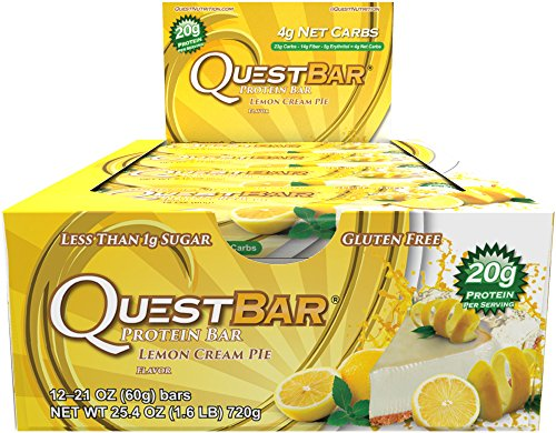 Quête Nutrition Protein Bar, Lemon Cream Pie,