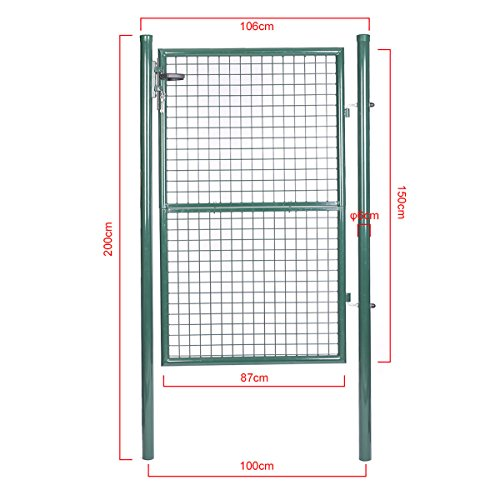 topgoods2016 gr n gartent r gartentor wellengitter t r cm 150 x 100cm. Black Bedroom Furniture Sets. Home Design Ideas
