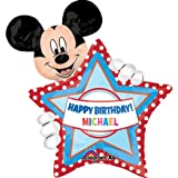MICKEY MOUSE balloon PERSONALIZE w/NAME happy BIRTHDAY 24