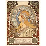 Design for a poster, by Alphonse Mucha (V&A Custom Print)