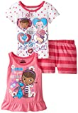Disney Little Girls' 3 Piece Doc Mcstuffins Short Set
