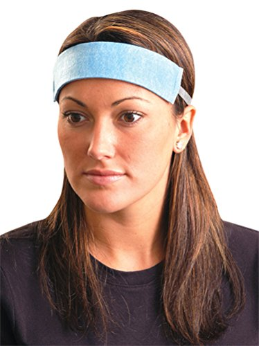 Occunomix 1X Disposable Sweatband, Original Soft, Large, Blue (Pack Of 100)