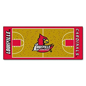 Buy FANMATS NCAA University of Louisville Cardinals Nylon Face Basketball Court Runner by Fanmats