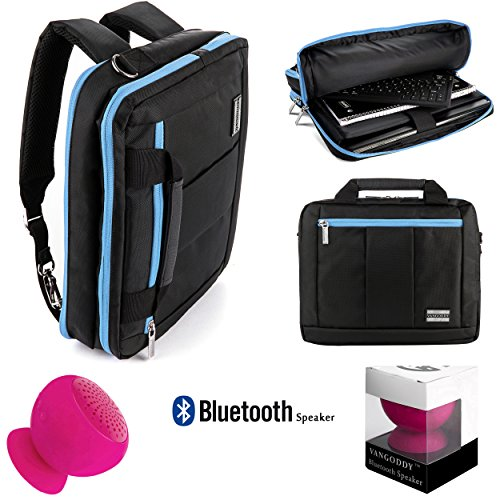 Executive Travel Carrying Bag, Messenger Bag & Backpack For + Pink Bluetooth Suction Speaker
