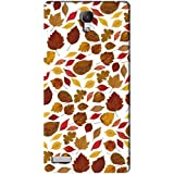AMAN Colour Leaf Pattern 3D Back Cover For Xiaomi Redmi Note 4G