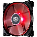 Cooler Master JetFlo 120 - POM Bearing 120mm Red LED High Performance Silent Fan for Computer Cases, CPU Coolers, and Radiators
