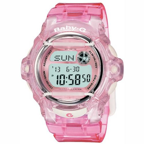 Casio BG-169R-4ER BABY-G ladies digital resin strap watch