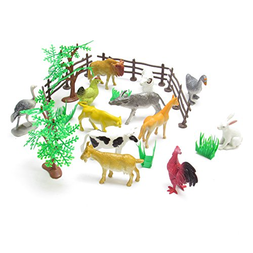 12-plastic-animal-playset-farm-animals-childrens-party-toys-bag