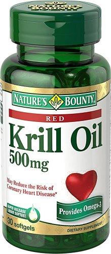 Natures Bounty Huile de Krill gélules, 500 mg,