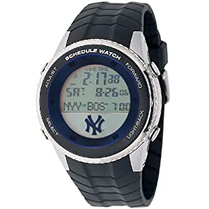 MLB Mens MLB-SW-NY3 Schedule Series New York Yankees Watch by Game Time