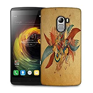 Snoogg Feathers And Circles Designer Protective Phone Back Case Cover For Lenovo Vibe K4 Note