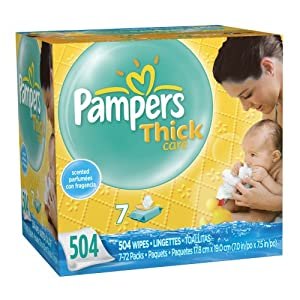 Pampers ThickCare 7x Wipes, Scented, 504 Count