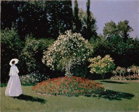 Oil Painting 'Jeanne-Marguerite Lecadre In The Garden, 1866 By Claude Monet' Printing On High Quality Polyster Canvas , 30x37 Inch / 76x94 Cm ,the Best Wall Art Gallery Art And Home Decoration And Gifts Is This High Definition Art Decorative Prints On Canvas (Running Horses Tin Waste Basket compare prices)