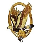 Intarsia Wooden Wall Plaque - Hawk