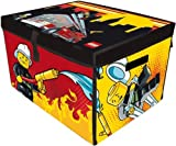 Colorful, Durable, Wipe Clean Surface - Neat-Oh! LEGO CITY FIRE ZipBin Large Toy Box Playmat