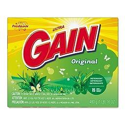 Gain Original Scent Powder Laundry Detergent, 16 oz/Box - 15 16-ounce boxes of powder laundry detergent.