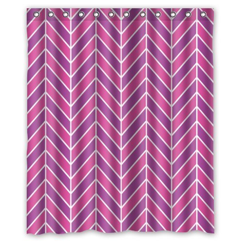 Modern Pink & Purple Zigzag Chevron Shower Curtain