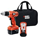 Black & Decker GCO14SFB 14-Volt NiCad 3/8-Inch Cordless Drill/Driver with Storage Bag and Stud Sensor