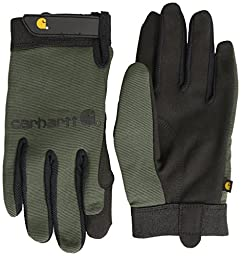 Carhartt Men\'s The Fixer Spandex Work Glove with Water Repellant Palm, Army, XX-Large