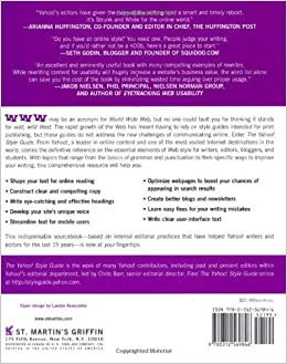 The Yahoo! Style Guide: The Ultimate Sourcebook for Writing, Editing, and Creating Content for the Digital WorldPaperback– July 6, 2010