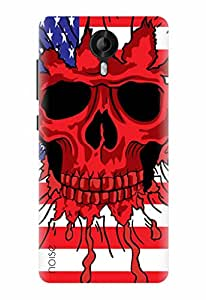 Noise Designer Printed Case / Cover for Micromax Canvas Amaze 2 / Patterns & Ethnic / American Flag Skull Design