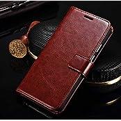 Badhiyadeal Premium Luxury Flip Video Stand Flip Case Cover For Xiaomi Redmi 3s / Redmi 3 Prime - Brown