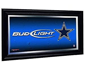 Dallas Cowboys Bud Light Beer Pub Mirror NFL