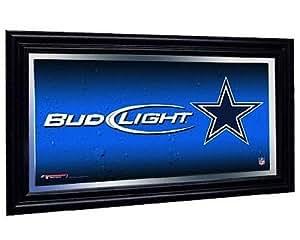 Dallas Cowboys Bud Light Beer Pub Mirror NFL