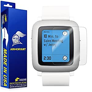 ArmorSuit MilitaryShield Pebble Time Screen Protector [2 Pack] Anti Bubble and Extreme Clarity HD Shield