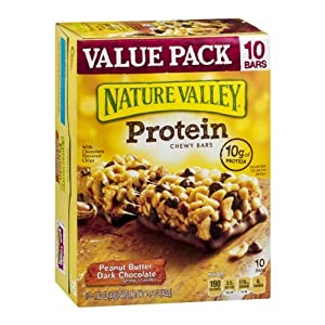 Nature Valley Peanut Butter Dark Chocolate Protein Chewy Bars, 14.2 Ounce