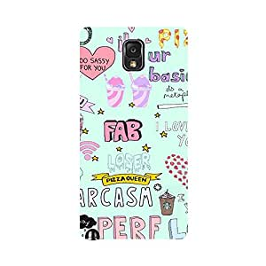 Phone Candy Designer Back Cover with direct 3D sublimation printing for Samsung Galaxy Note 3 N9000