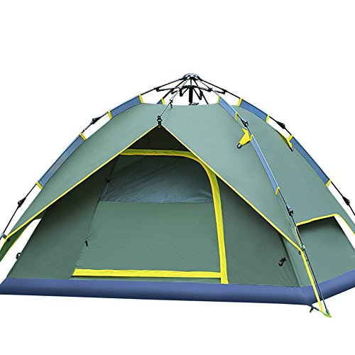 IFLYING 3 In 1 Design Double Layers 3-4 Person Quick Pop Up Sports Instant Beach Star Tent, Beach Sunshelter with Carry Bag (Army Green) (Eurekas Castle Dvd compare prices)