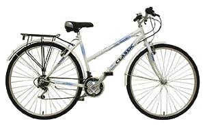Classic Women's Touriste Commuter Bike - White ( Wheel 700C, Frame 19 Inch)