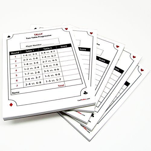 Progressive score pads 2 table toys games games card game for 4 table progressive game tally sheet