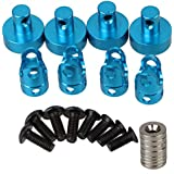 Bqlzr Blue N10081 Aluminum Alloy Upgrade Parts Magnetic Stealth Invisible Body Post Mount For Rc 1:10 Model Car...