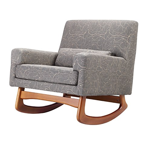 Nursery Works Sleepytime Rocker with Walnut Legs, Grey/Taupe