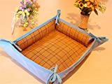 LPET Multifunctional Comfortable Dog Bed Cooling Crates Mat Both sides Pet Pad Kennels Nest Usable All Seasons for Puppy Cats(Blue) (L)
