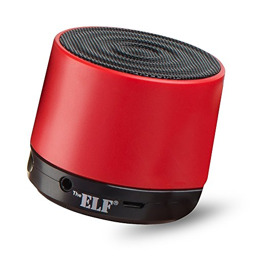 The Elf® Ultra-Mini Portable Bluetooth Wireless Speaker / Pocket-Size Speaker With Extremely Powerful & Crystal Clear Sound / Compatible With All Devices With Bluetooth Capability - 6 Hours Playtime Rechargeable Battery / With Built-In Mic For Use As A Po