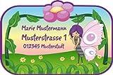 Namensetiketten Schuletiketten für Kinder Set mit Wunschname Motiv: Elfe Maja