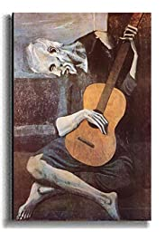 The Old Guitarist by Picasso Premium Stretched Canvas (Ready-to-Hang)