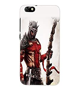 ColourCraft The Warrior Design Back Case Cover for HUAWEI HONOR 4X