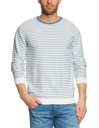 Jack and Jones Olmer O-Neck Knit 1-2-3 13 Org Men's Jumper Cloud Dancer Medium