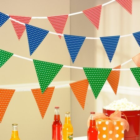 Orange Polka Dot Flag Banner - 1