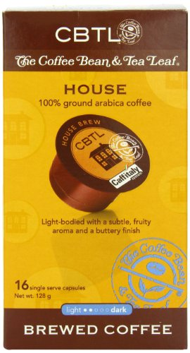 Cbtl House Brew Coffee Capsules By The Coffee Bean & Tea Leaf, 16-Count Box