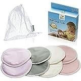 Washable Organic Bamboo Nursing Pads W/ LAUNDRY BAG & THANK YOU BONUS-8 Pack(4 Pairs)-Ultra Soft,Hypoallergenic...