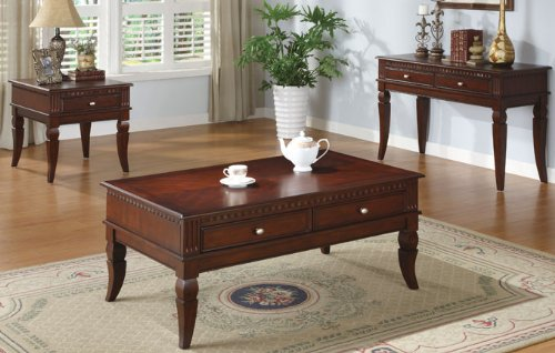 Cheap Classic Wooden End Table with Shelf in Cherry Finish #PD F61238 (f6238)