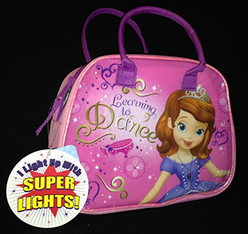 Sofia the First Purse Style Lunch Box with Flashing LED Lights, New 2014 - 1