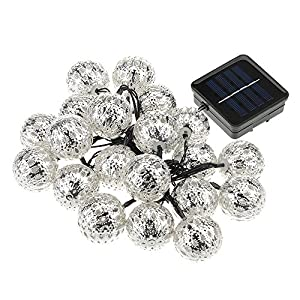 VicTsing Waterproof 15.9Ft 20 LED Solar Powered Outdoor String Lights for Outside Garden Patio Party Christmas (Warm White) by VicTsing
