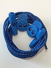 EREV Sport 3M Lock Laces No Tie Tri Elastic Shoelaces Triathlon (Royal Blue)